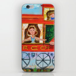 The Cabus of my Daughters' Circus Train El Cabus del Tren del Circo de mis Hijas iPhone Skin