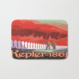 Kepler-186 : NASA Retro Solar System Travel Posters Bath Mat