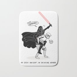 Darth Vader: Jedi Knight in Shining Armor [Black and White] Bath Mat
