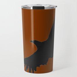 COFFEE BROWN FLYING BIRD SILHOUETTE Travel Mug