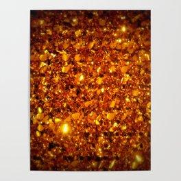 Copper Sparkle Poster