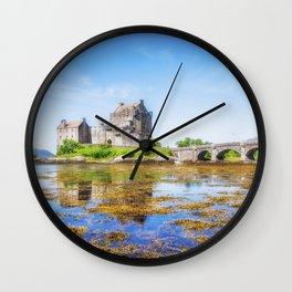 Eilean Donan in Summer Wall Clock