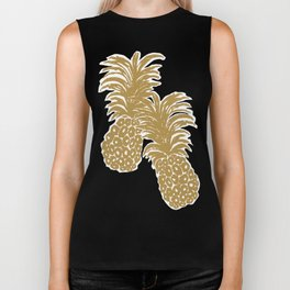 Gold Pineapples Biker Tank