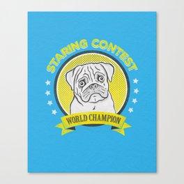 Staring Contest World Champion Canvas Print
