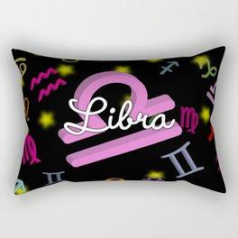 Libra Floating Zodiac Rectangular Pillow