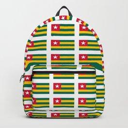 Flag of Togo -togolais,togolaise,togolese,Lomé,Sokodé,Ewe,Mina. Backpack