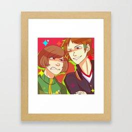 fight me!! Framed Art Print