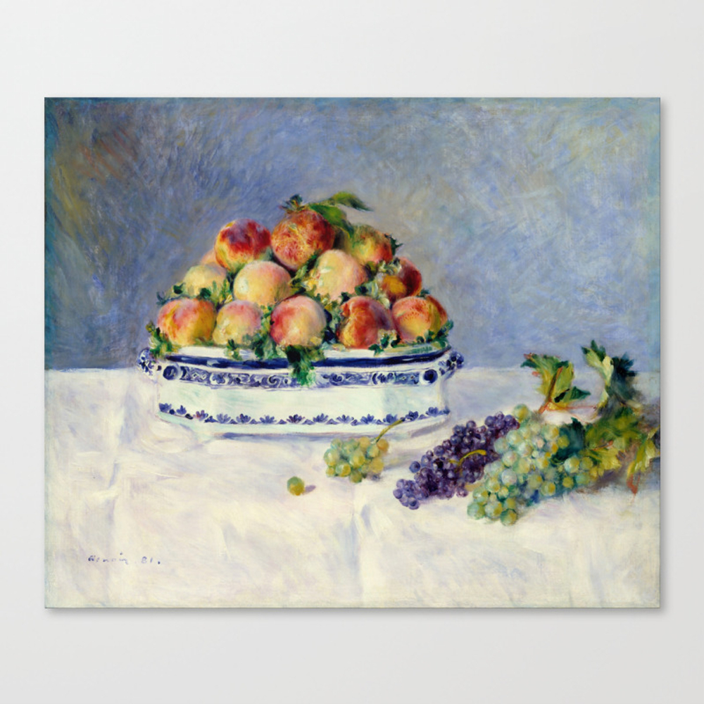 "Auguste Renoir """"still Life With Peaches And Grapes… Canvas Print by Alexandra_arts"" CNV9097175"
