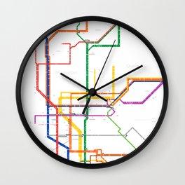 New York City subway map Wall Clock