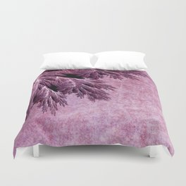 Frost in pink Duvet Cover