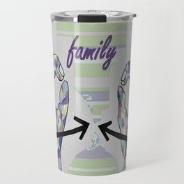 ASL Family in Denim Colors Travel Mug