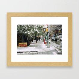 Snowy East Side (NYC) Framed Art Print