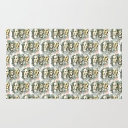 watercolor faces pattern Rug
