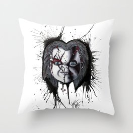 The Horror of Chucky Throw Pillow