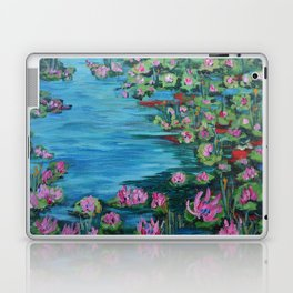 Lily Pond, Impressionism Painting, Pond Flowers Laptop & iPad Skin