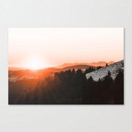 Warm Mountains Canvas Print