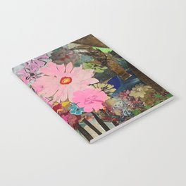 Birds Eyes and Pink Flowers Notebook
