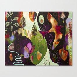 """Deep Peace"" Original Painting by Flora Bowley Canvas Print"