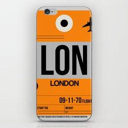 LON London Luggage Tag 1 iPhone Skin