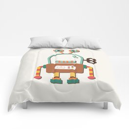 Silly Wind-up Robot Toy Comforters