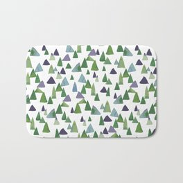 Abstract Watercolor Forest Bath Mat