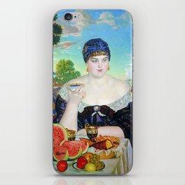 MERCHANT'S WIFE AT TEA - BORIS KUSTODIEV iPhone Skin