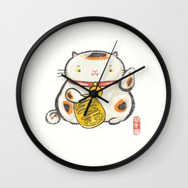 Maneki Neko [Special Lucky Toy Box] Wall Clock