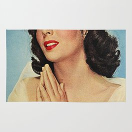 ELIZABETH TAYLOR PRAYING - MODERN SCREEN MAGAZINE Rug
