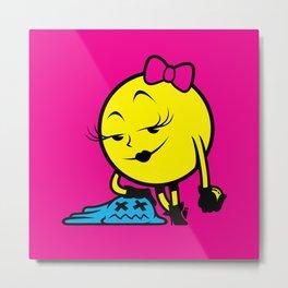 Ms. Pac-Man Metal Print