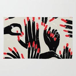 hands, fingers, nails & fingernails Rug