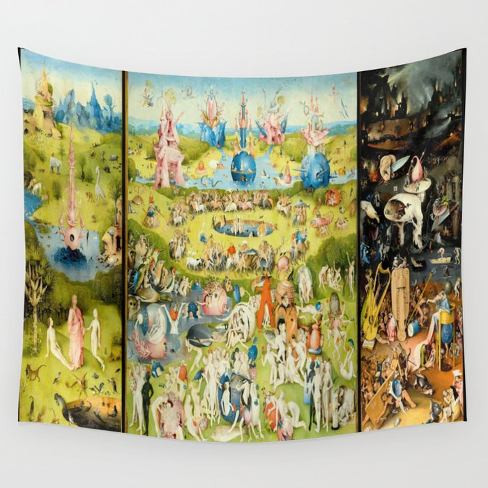 The Garden Of Earthly Delights By Bosch Wall Tapestry