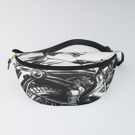 Woman Motorcycle Rider Fanny Pack