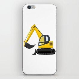 Yellow Excavator iPhone Skin