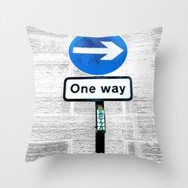 One Way Throw Pillow
