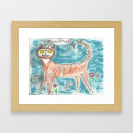 Tiger for Day of the Dead  Framed Art Print