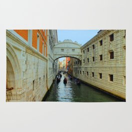 Bridge of Sighs, Venice, Italy,  in the late afternoon sun. Rug