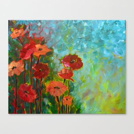 Spring Poppies Canvas Print