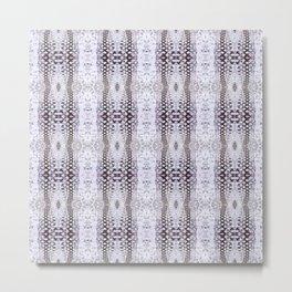 Pattern 58 - Tire track snow lace Metal Print