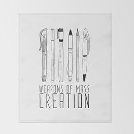 weapons of mass creation Throw Blanket
