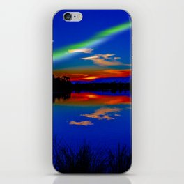 North light over a lake iPhone Skin