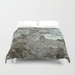 Lichen on granite Duvet Cover
