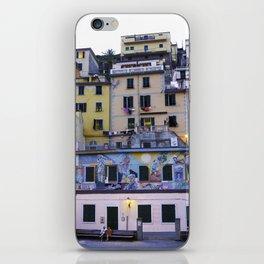 Colourful courtyard of Riomaggiore iPhone Skin