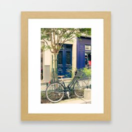 Bicycle in the Marais, Paris Framed Art Print