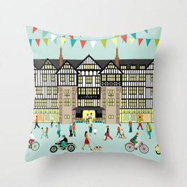 Art Print of Liberty of London Store - Daytime Throw Pillow