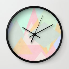 spring pastel abstract pattern design Wall Clock