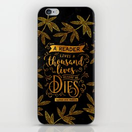 Thousand Lives - gold iPhone Skin