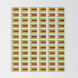 Flag of zimbabwe -Zimbabwe,Zimbabwean,Zimbo,harare,Bulawayo Throw Blanket