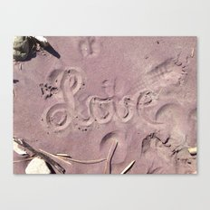 Love in the Sand Canvas Print