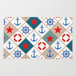 Nautical pattern . 1 Rug