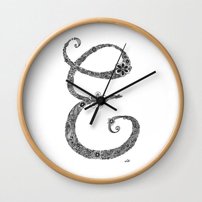 letter E Wall Clock